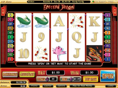 eastern dragon video slot