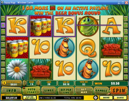 happy bugs video slot