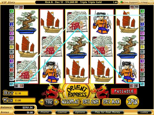 orient express video slot