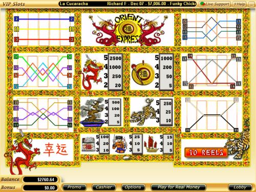 orient express casino flash game