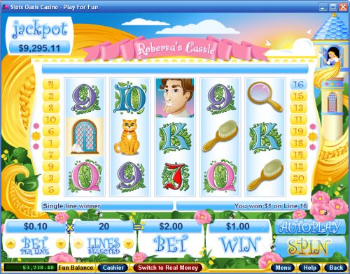 robertas castle video slot