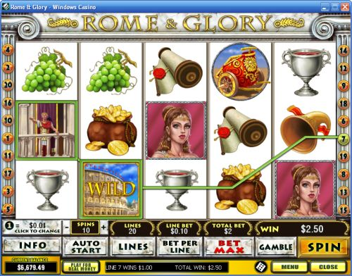 rome glory video slot