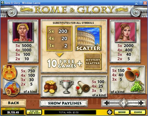 rome and glory flash game