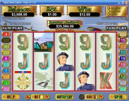 Slot machine tally ho