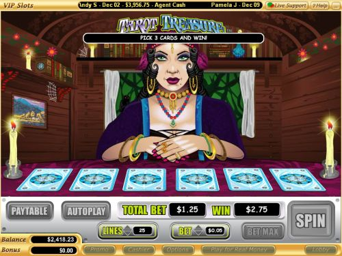 tarot flash game