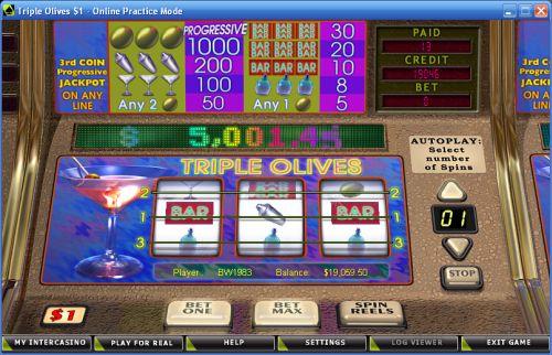 triple olives classic slot