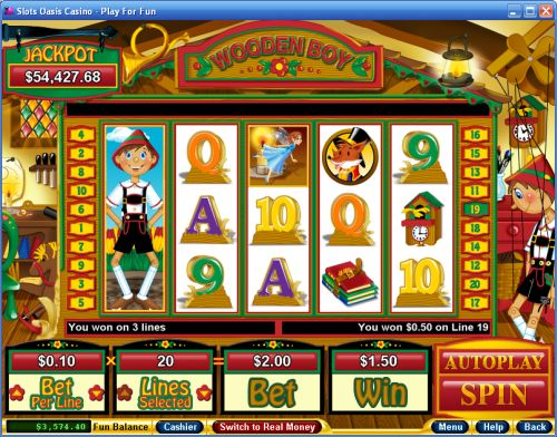 wooden boy video slot