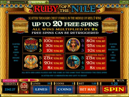 ruby of the nile flash game