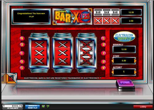 bar x 125 classic slot