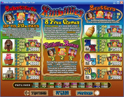hillbillies casino flash game