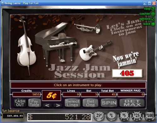 jazz time casino game