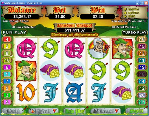prince of sherwood slot