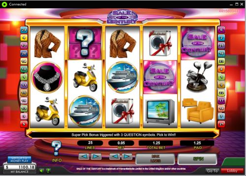 sale of the century slot