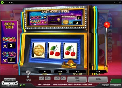sale of the century video slot flash game