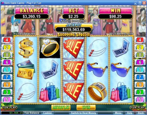 shopping spree video slot