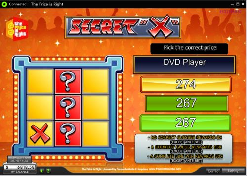 the price is right video slot