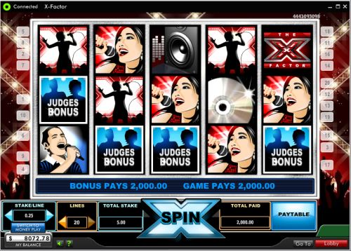 x-factor video slot