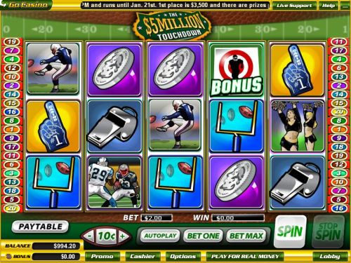touchdown casino game