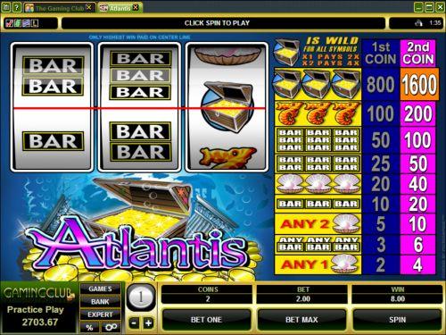 atlantis classic slot