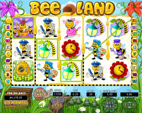 bee land video slot