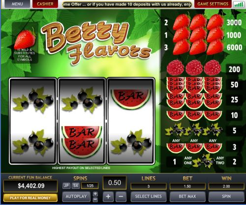 berry flavours slot