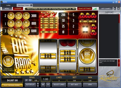 big bang slot