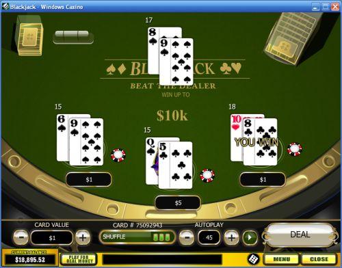 blackjack scratch card