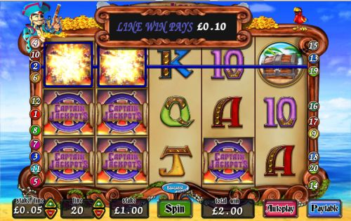 captain jackpots video slot