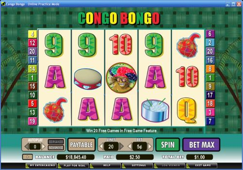 congo bongo video slot