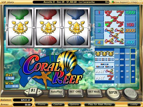 Бесплатные игры казино - слоты - тропический риф