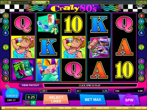 crazy 80s video slot