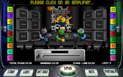 creatures of rock casino game