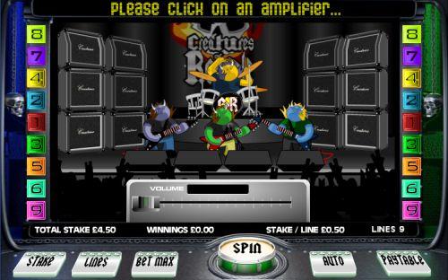 creatures of rock casino game