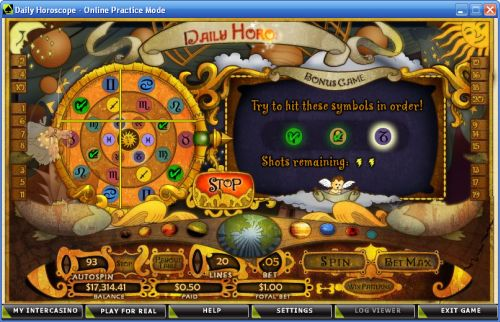 daily horoscope casino flash game