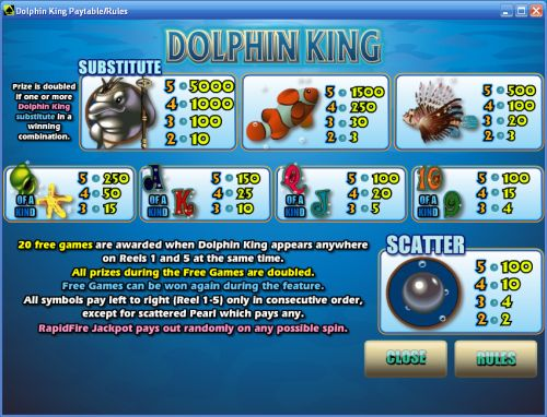 dolphin king flash game