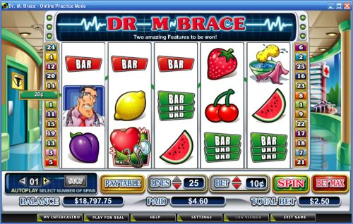 dr m brace video slot