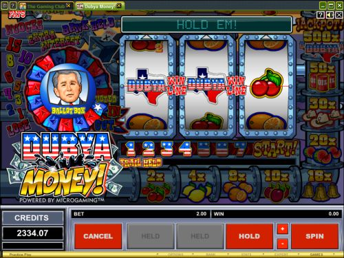 dubya money fruit machine