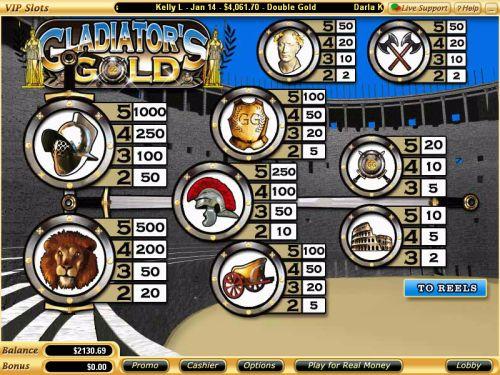 gladiators gold casino game