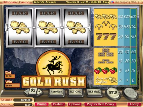 gold rush vegas tech classic slot