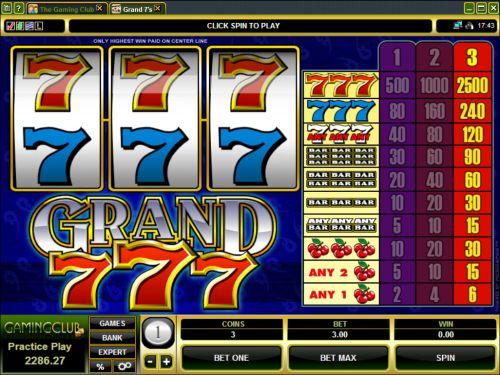 grand 7s classic slot