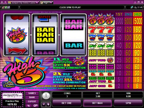 High Five Slots - Play Microgaming Slot Machines for Free