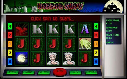 horror show slot