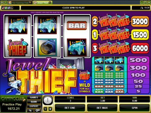 Jewel Thief Slots - Play this Microgaming Casino Game Online