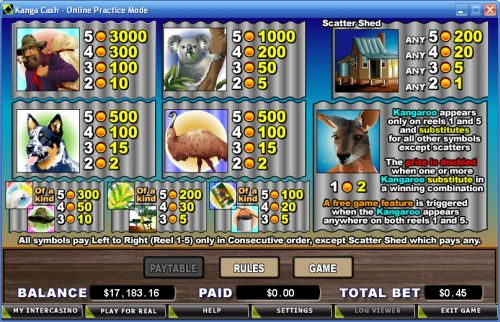 kanga cash video slot