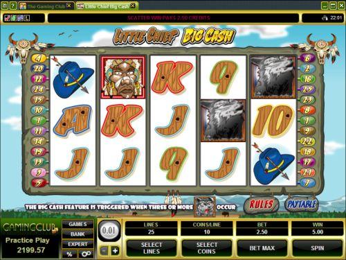 little chief big cash slot