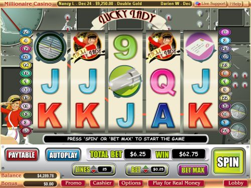 lucky lady video slot