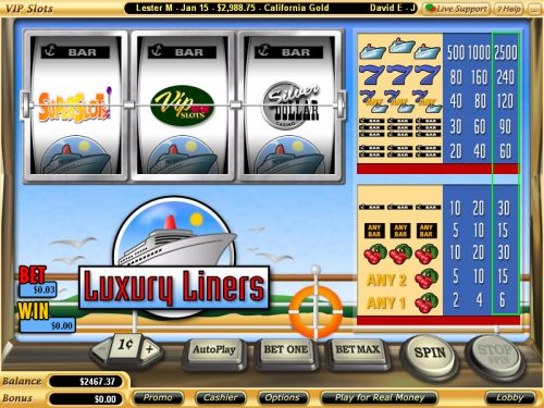luxury liners classic slot
