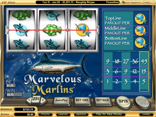 marvelous marlins vegas tech slot