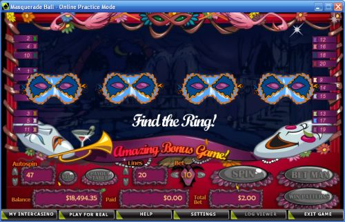 masquerade ball casino game