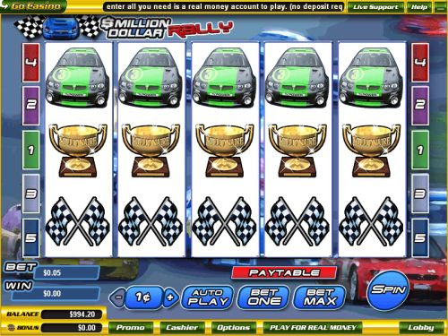 million dollar rally video slot
